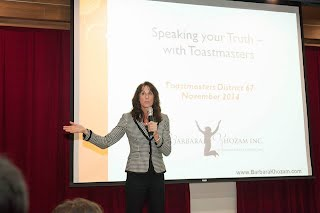 Barbara Khozam at 台中新世紀演講會toastmaster club